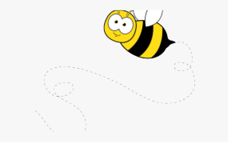 Transparent Bee Clipart Png - Bee Flying Clip Art, Transparent Clipart