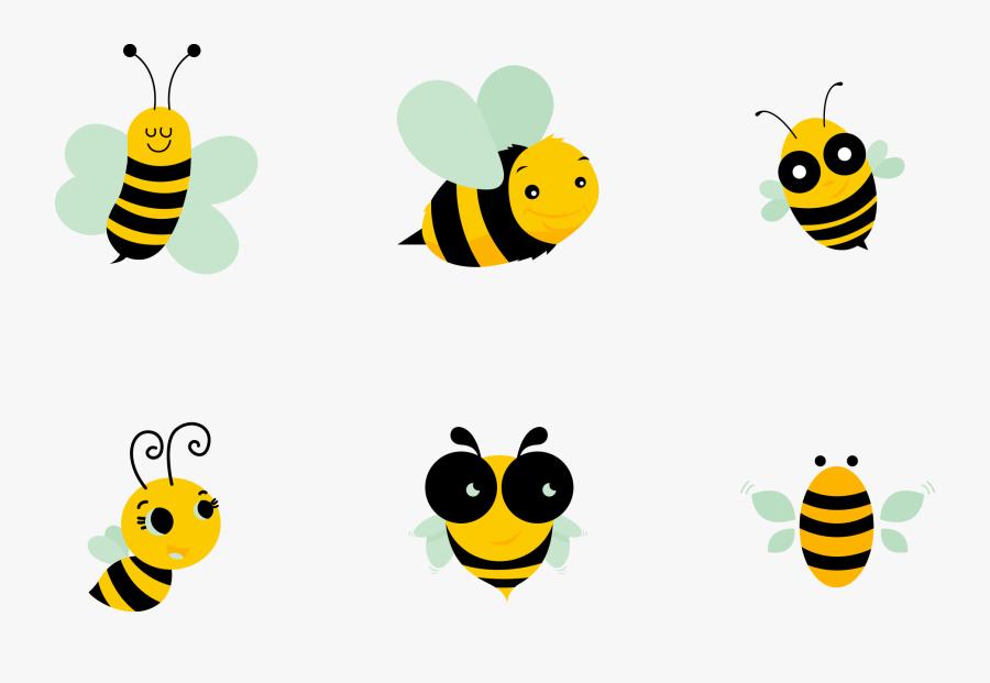 Apis Florea Clip Art - Cute Honey Bee Png, Transparent Clipart