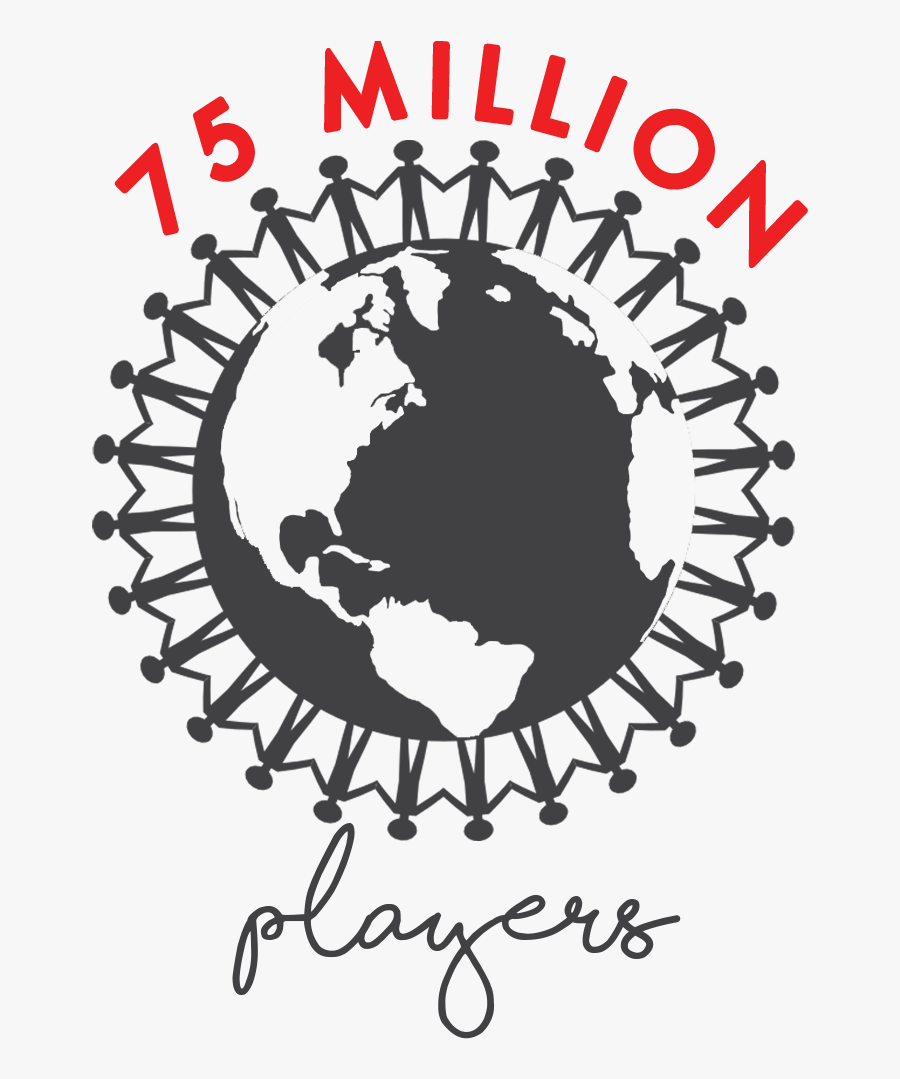 Flowplay Stats Players - People Holding Hands On Earth, Transparent Clipart