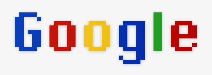 Pixel Google Logo, Transparent Clipart