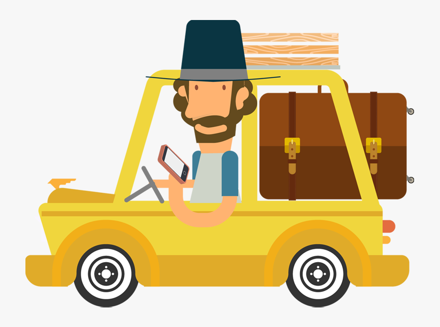 People Drinking Coffee Clipart - Travel By Car Png, Transparent Clipart
