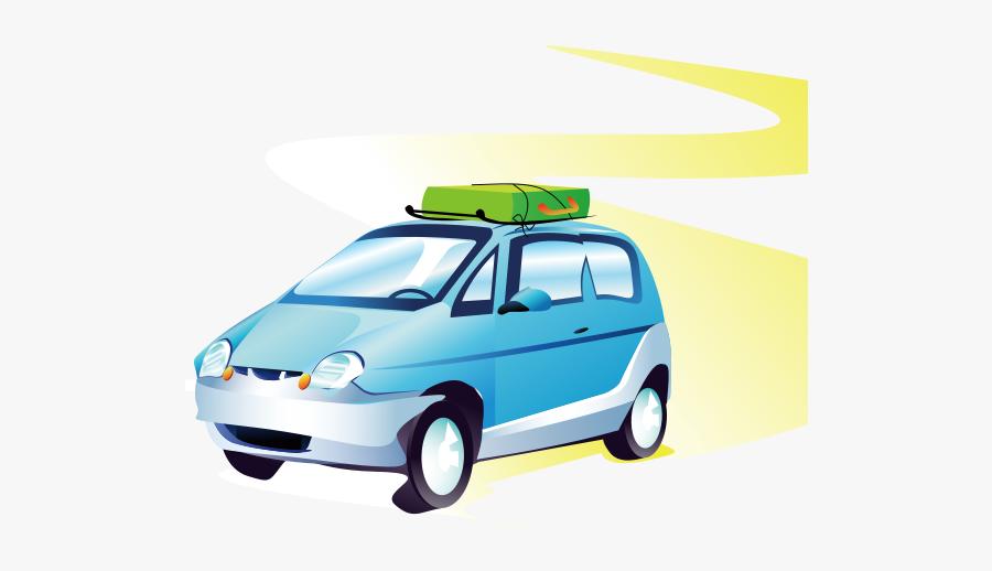 Travel Car - Travel Road Trip Clipart, Transparent Clipart