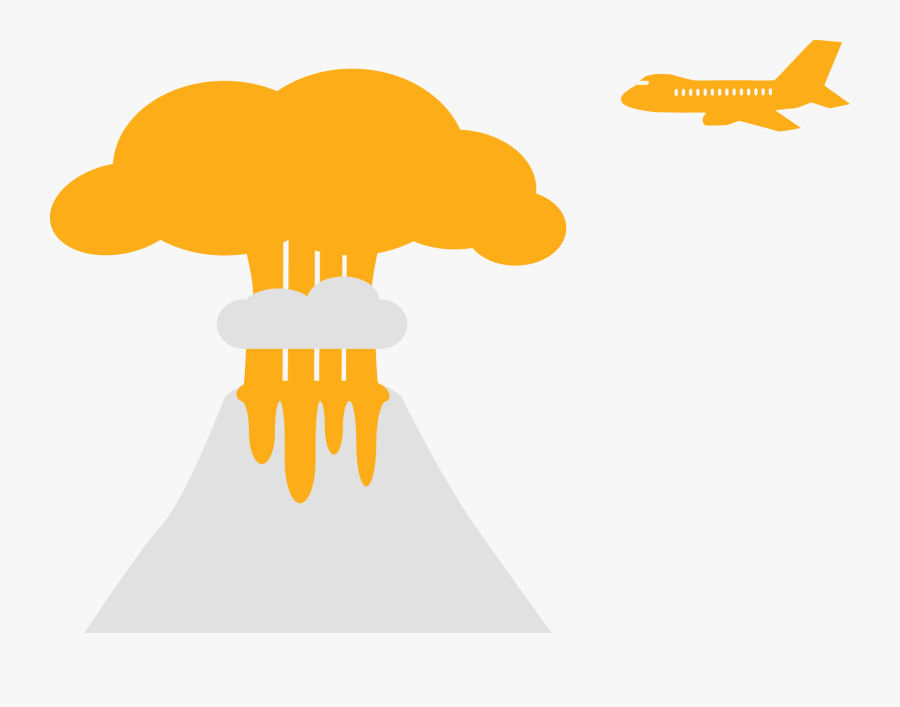 Clipart Cloud Volcano - Eruption Transparent Clipart, Transparent Clipart