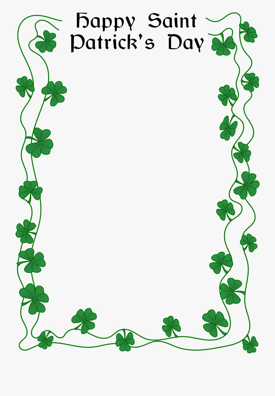 Happy St Patrick's Day Border, Transparent Clipart