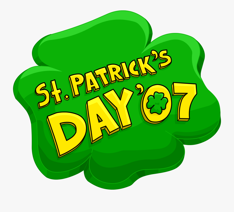 "Patrick""s Day Party - Saint Patrick's Day, Transparent Clipart"