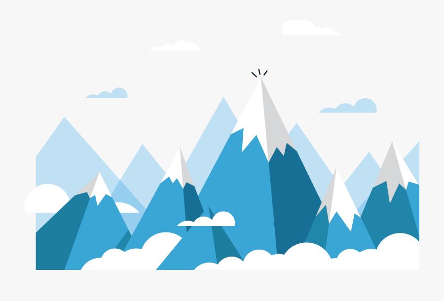 Clip Art Mount Everest Euclidean Rolling - Ice Mountain Vector Png, Transparent Clipart