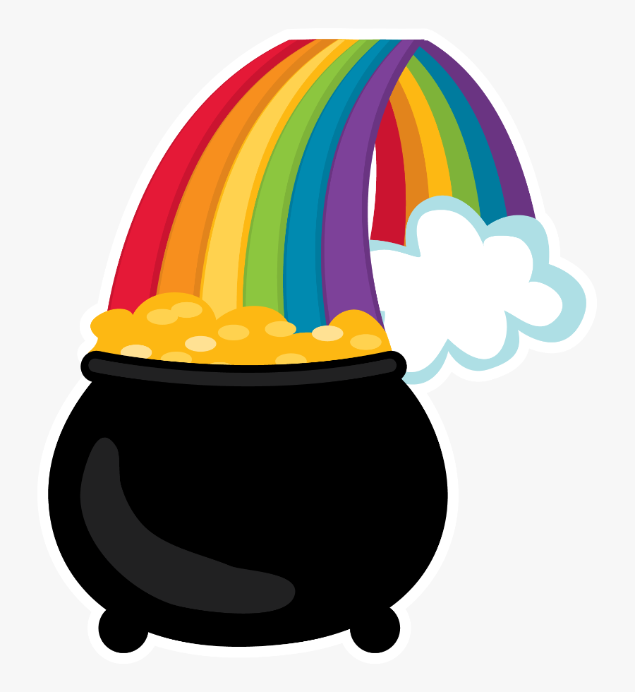 Pot Of Gold * St Patricks Day Clipart, Face Paintings, - Rainbow Pot Of Gold Clipart, Transparent Clipart