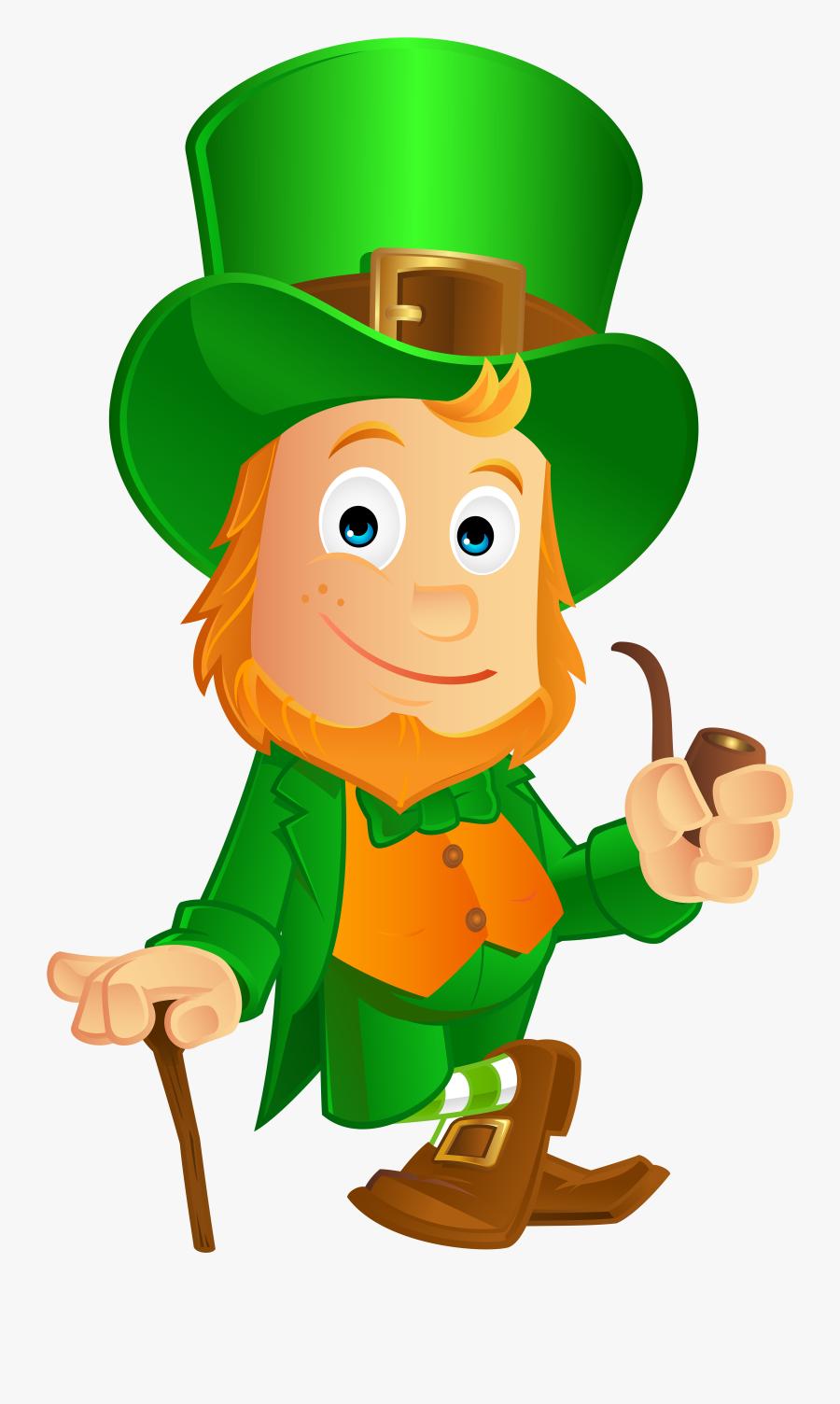 Happy St Patricks Day Leprechaun Png - Leprechaun St Patrick's Day Clipart Png, Transparent Clipart