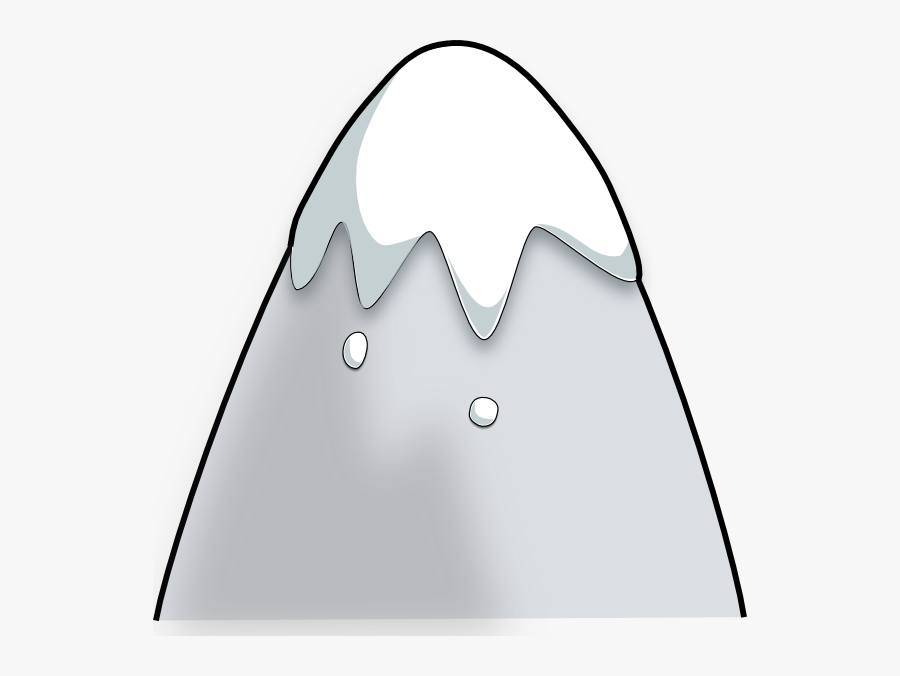Clip Art Of Snowy Mountain Top Clipart - Animated Mountain With Snow, Transparent Clipart