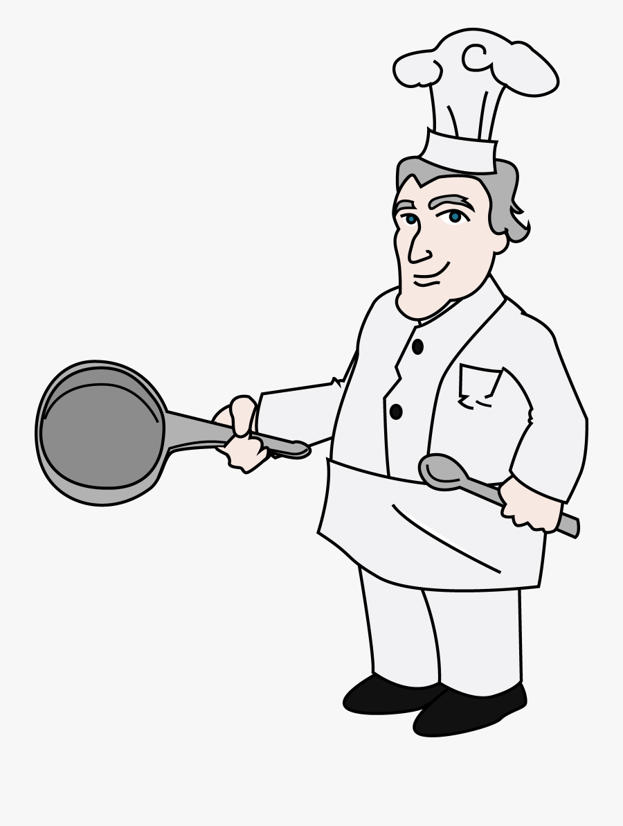 Chef Clipart Illustration Free Clip Art - Cooking Chef For Drawing, Transparent Clipart