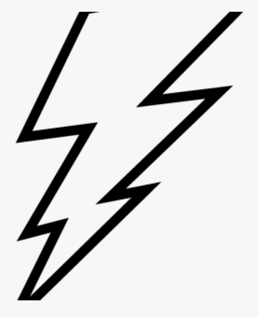 Outline Clipart Lightning Bolt Outline Clip Art Lightning - Easy Lightning Bolt Drawing, Transparent Clipart