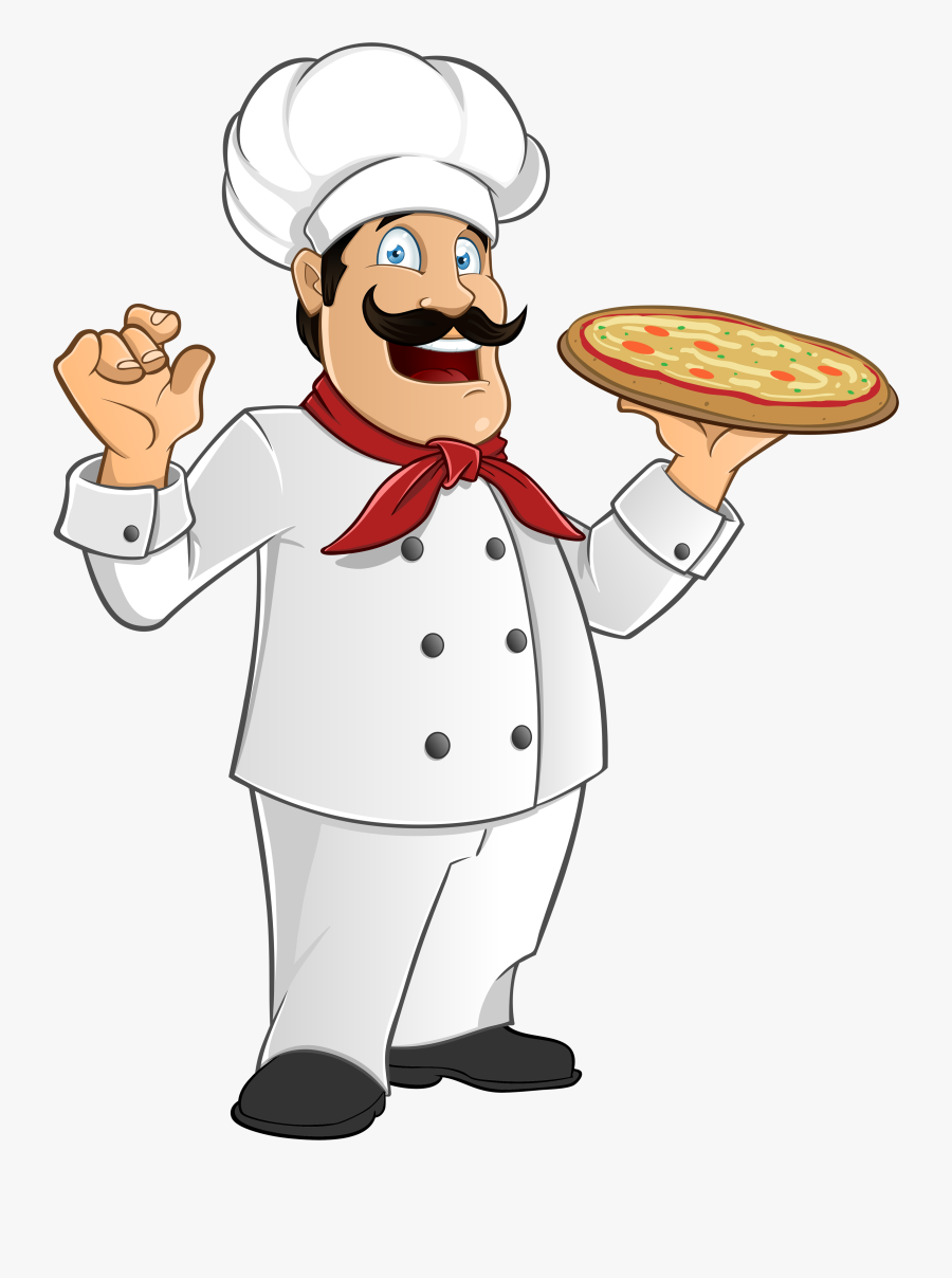 Transparent Cook Clipart - Italian Chef Cartoon, Transparent Clipart