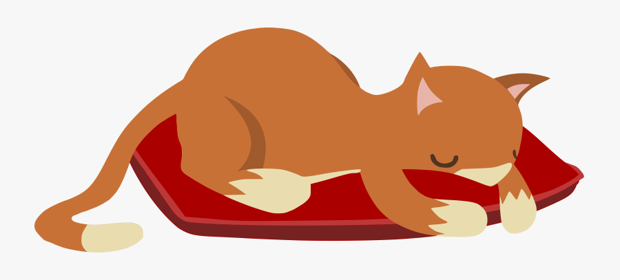 Sleeping Cat From Glitch Png Library Stock - Sleeping Cat Clipart Png, Transparent Clipart