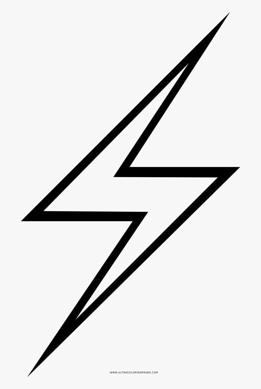 Free Lightning Bolt Stencil - Simple Lightning Bolt Drawing, Transparent Clipart