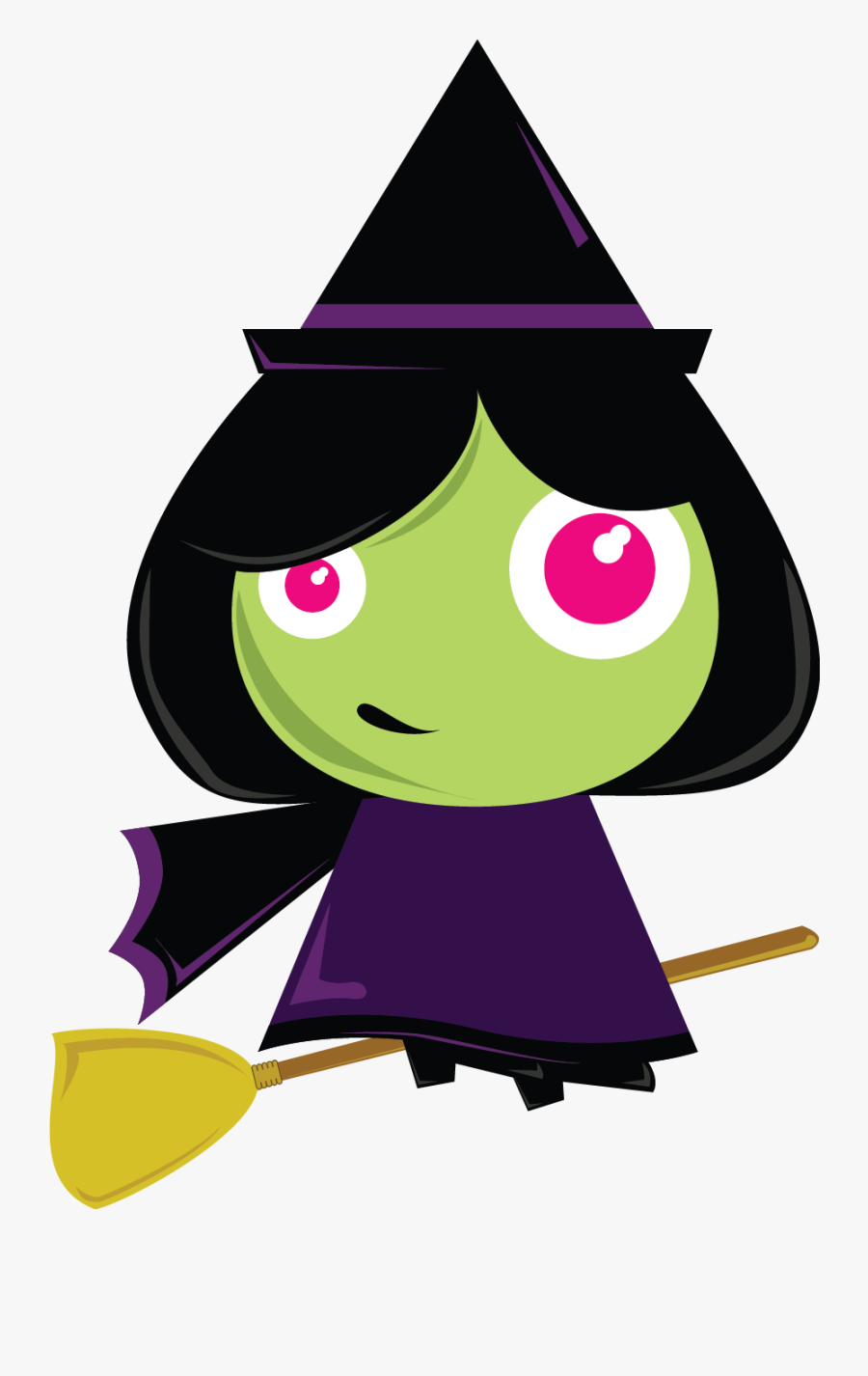 Free Clipart Of Halloween Witches - Witch Clipart, Transparent Clipart