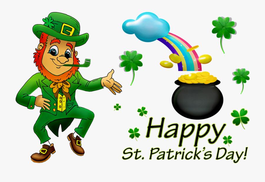 "Happy St Patrick""s Day, Leprechaun, Rainbow - Little Leprechaun Poem Free, Transparent Clipart"