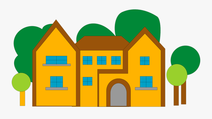 Location Clipart School Library Building - House Png Vector Graphics, Transparent Clipart