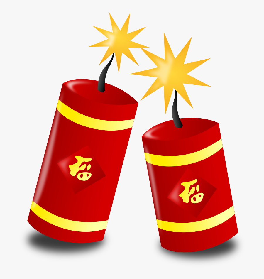 Fireworks Clipart - Clipart Chinese New Year, Transparent Clipart