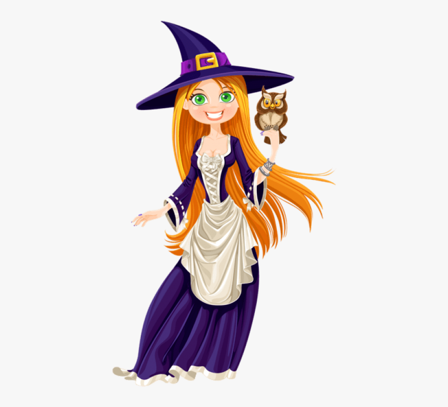Free Png Halloween Witch With Owl Png Images Transparent - Good Witch Clipart, Transparent Clipart