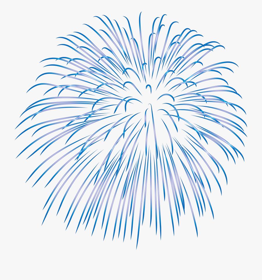 Fireworks Clip Art - Blue Fireworks Transparent Background, Transparent Clipart