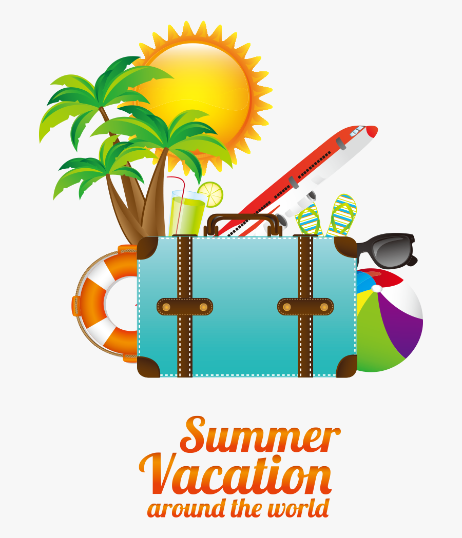 Summer Poster Elements - Summer Travel Logo Png, Transparent Clipart