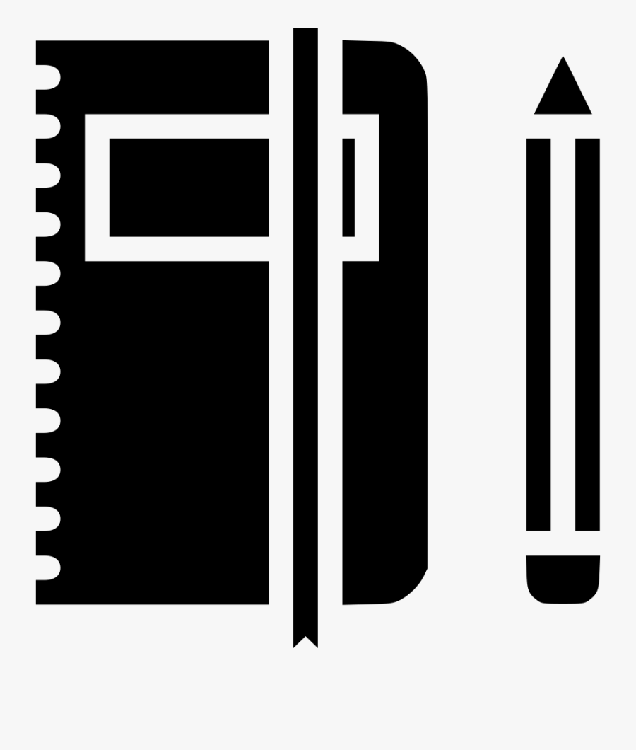 Book And Pen Clipart Png - Book And Pen Logo Black, Transparent Clipart