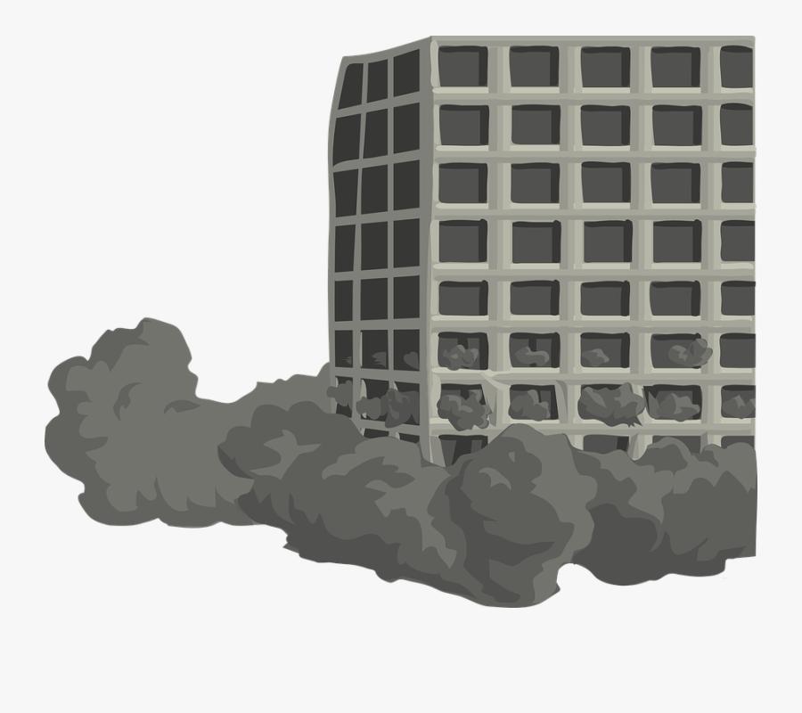 Building, Tower, Torn, Down, Destroy, Destruction - Building Falling Clipart, Transparent Clipart
