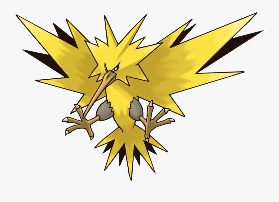 Lightning Clipart Pokemon - Pokemon Moltres Vs Articuno Vs Zapdos, Transparent Clipart