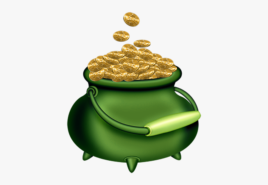 St Patricks Day Green Pot Of Gold Clipart - Saint Patricks Day Gold, Transparent Clipart