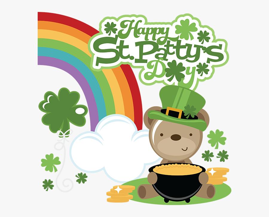 St Patrick's Day Cute, Transparent Clipart