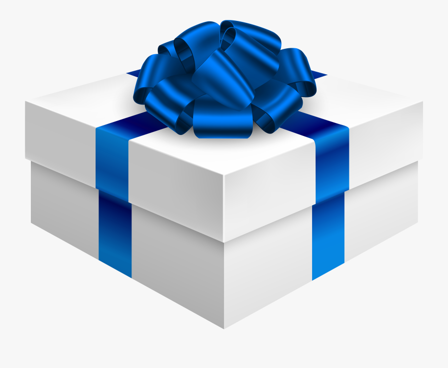 Clipart Present Blue Present - Gift Box Png Transparent, Transparent Clipart