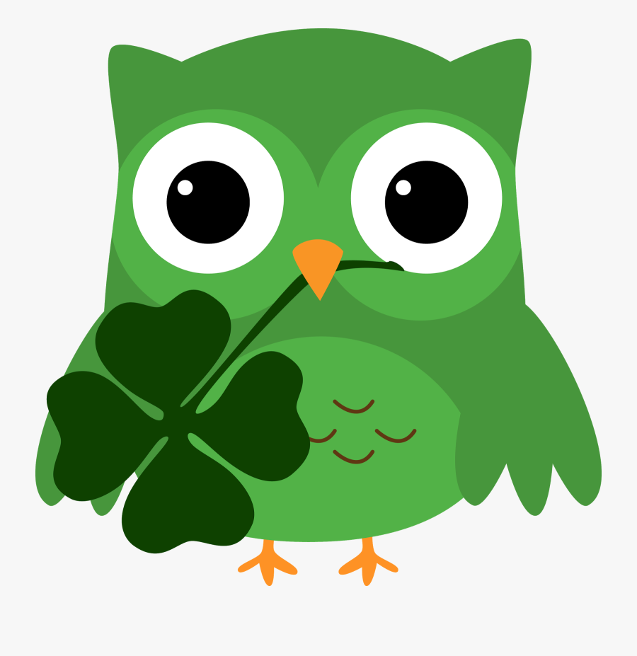 """Just Wanted To Wish You All A Very Happy Saint Patrick""""s - St Patricks Owl Clip Art, Transparent Clipart"""