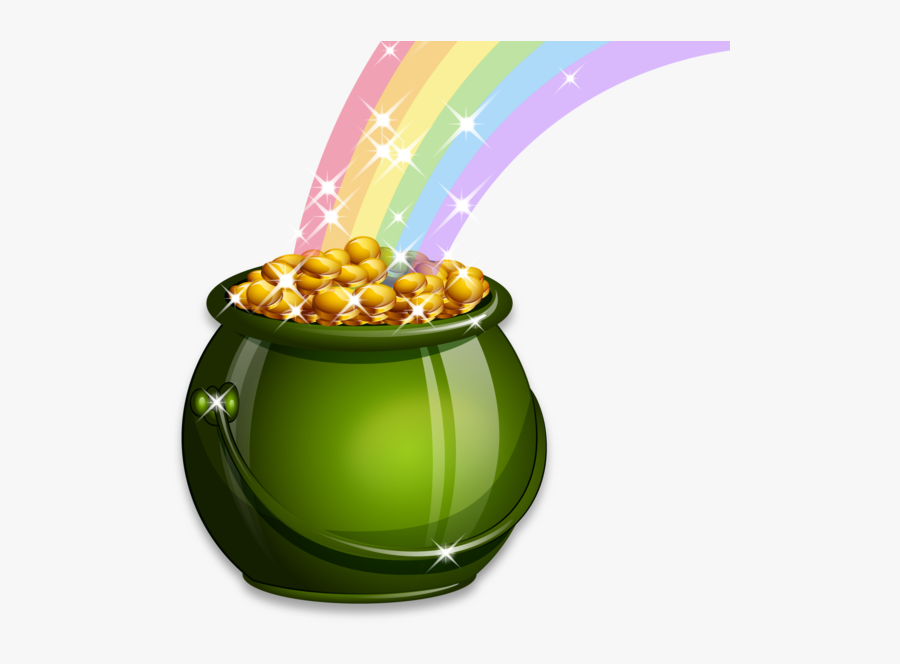 St Patrick's Day Pot Of Gold Png, Transparent Clipart