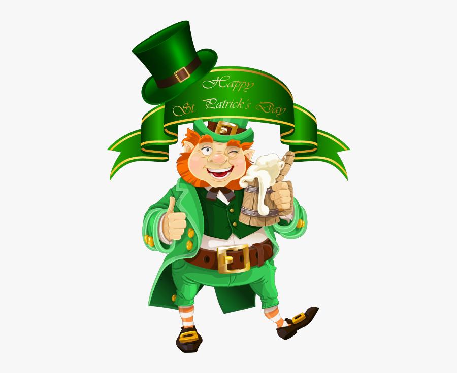 """Transparent Happy St Patrick""""s Day Png - Leprechaun Png, Transparent Clipart"""