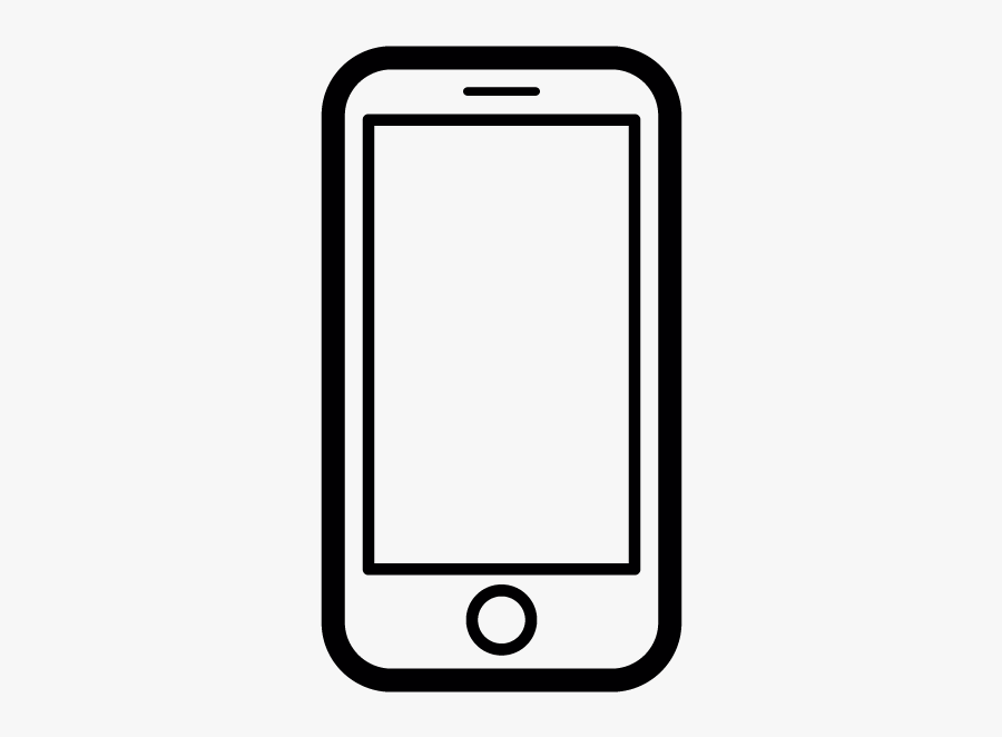 Vector Clipart Iphone - Smartphone Clipart Black And White, Transparent Clipart