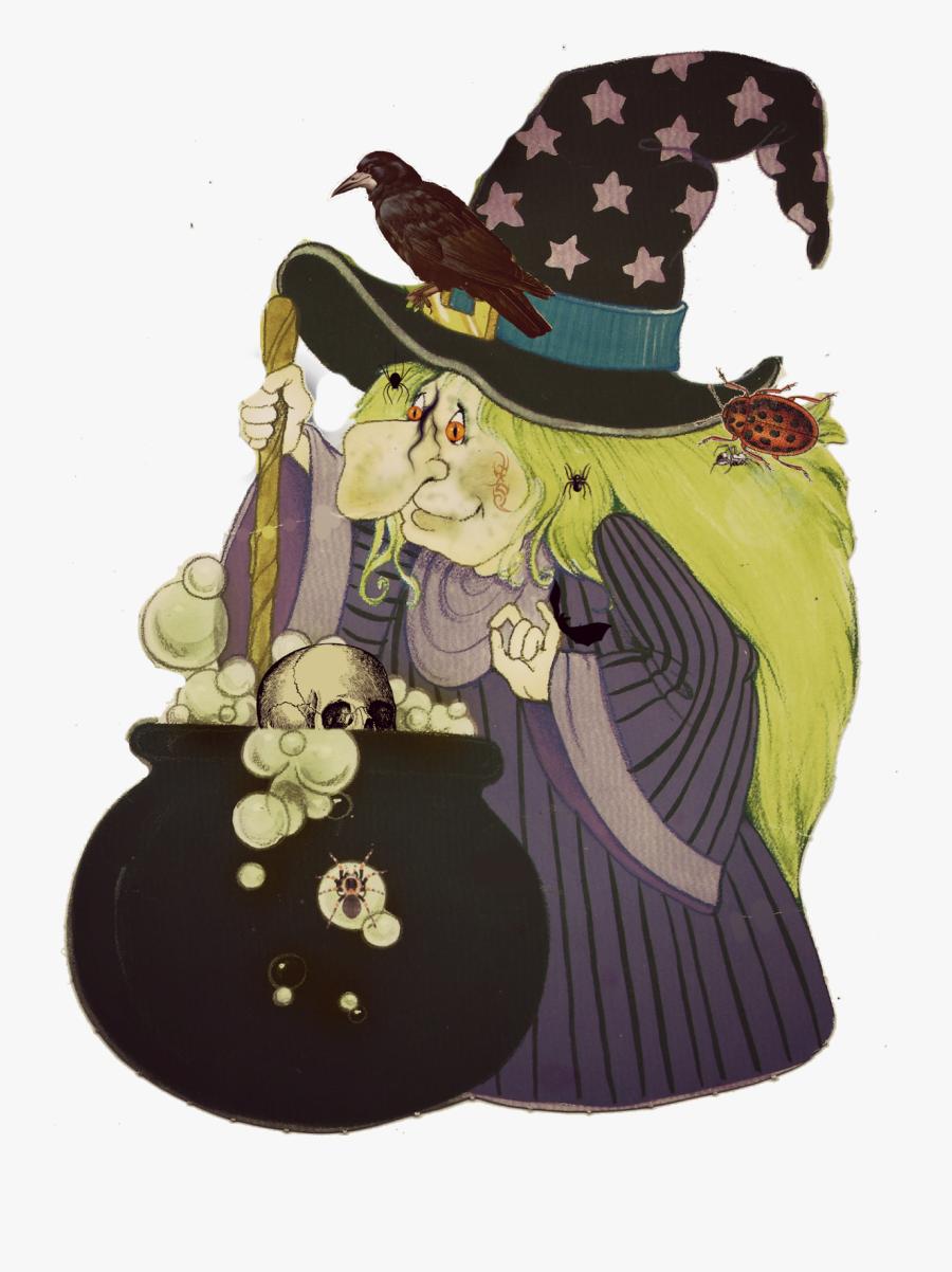 Transparent Witch Clipart - Illustration, Transparent Clipart