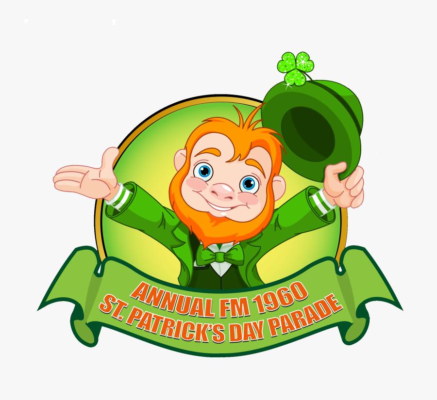 Fm 1960 St Patricks Day Parade St Patricks Day 2017, - Happy Leprechaun, Transparent Clipart