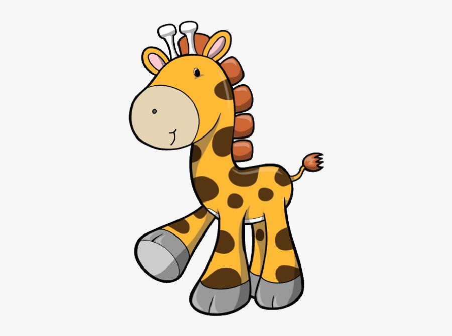 Baby Giraffe Clipart Black And White, Transparent Clipart