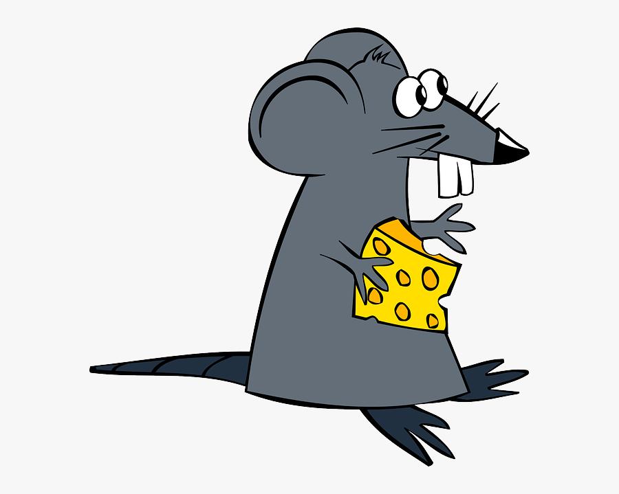 Cheese - Clip - Art - Rat Cartoon No Background, Transparent Clipart