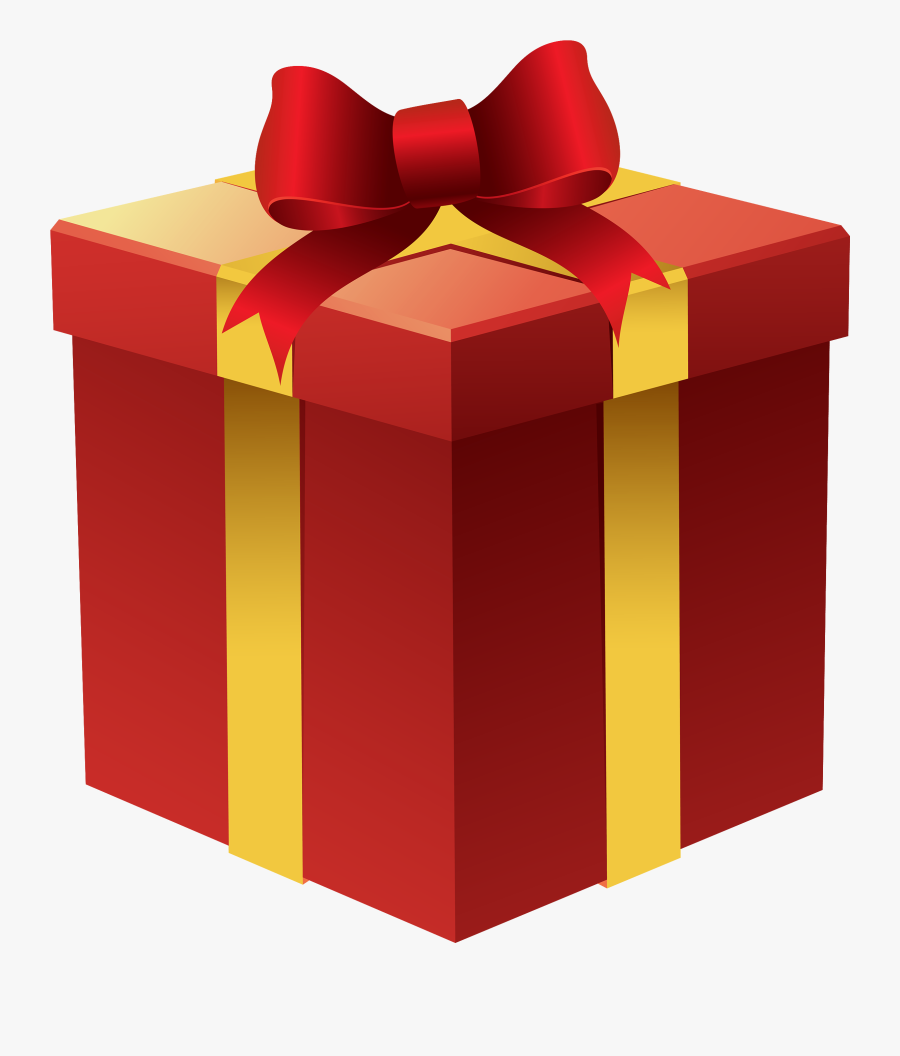 Gift Box In Red Png Clipart - Gift Box Clipart Png, Transparent Clipart