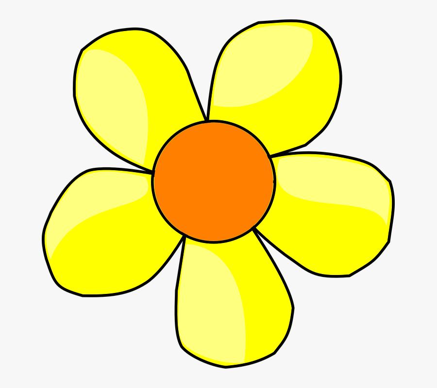 Daisy Flower Petals Yellow Cartoon Flower Png Free Transparent Clipart Clipartkey