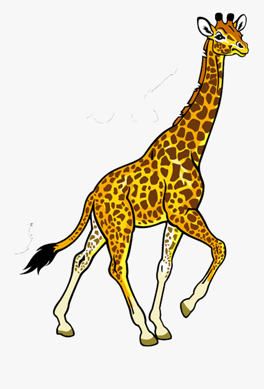 Clip Art Fauna Of Africa Baby - Giraffe Black And White, Transparent Clipart