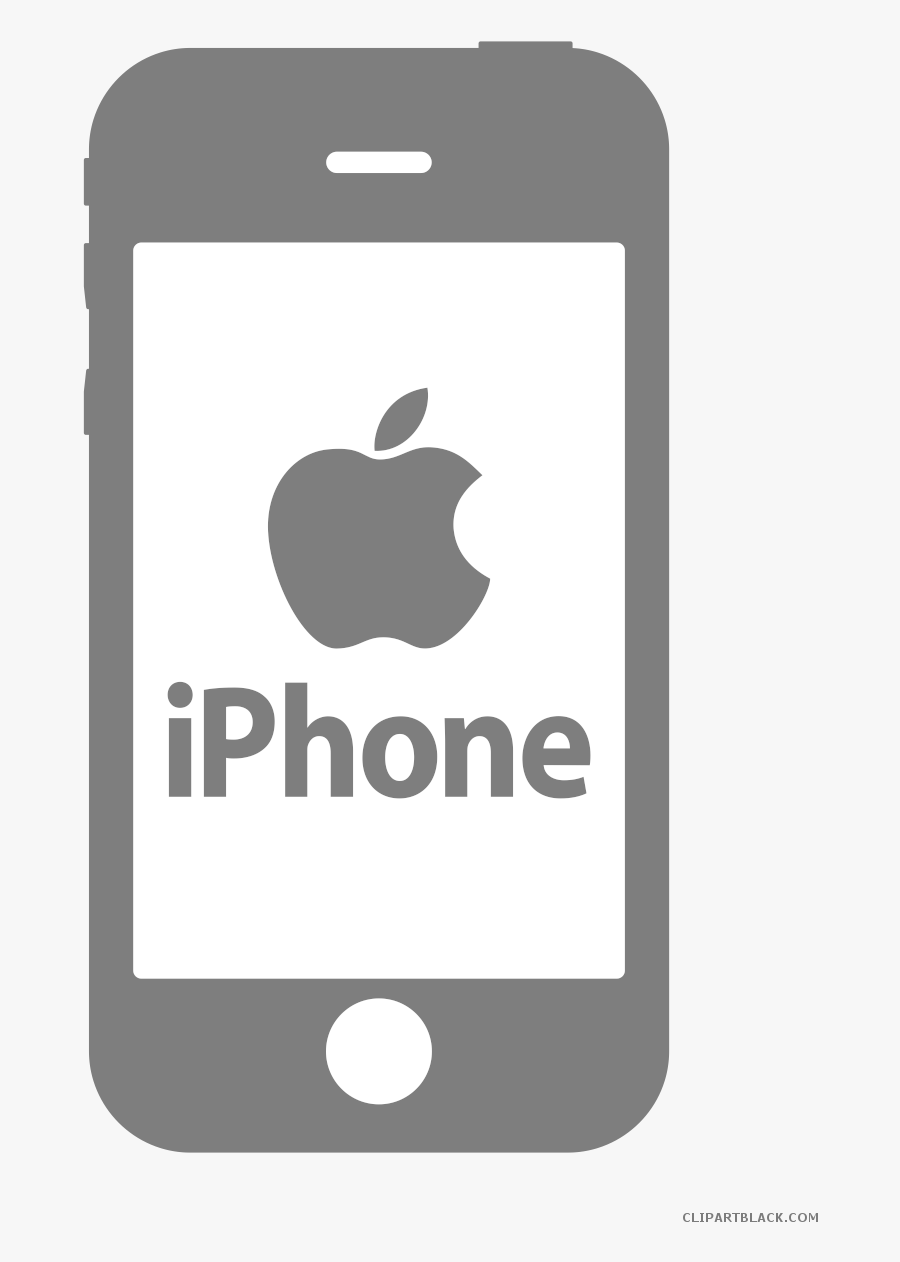 Transparent White Iphone Png - Iphone Clipart Black And White, Transparent Clipart