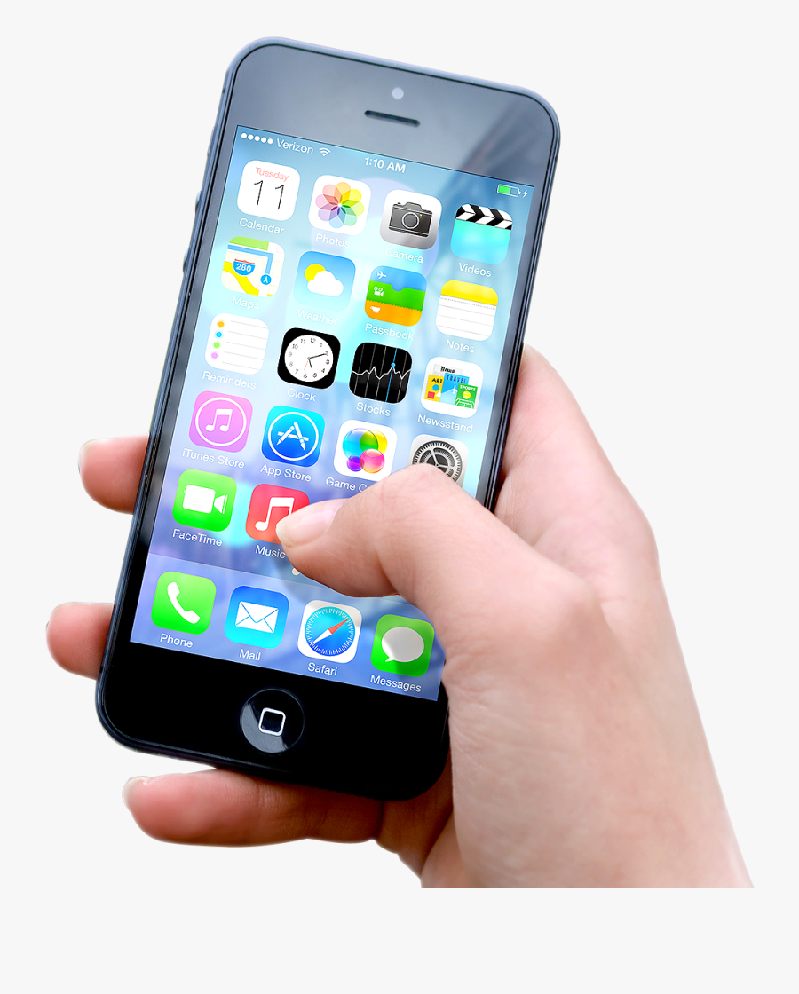 App Clipart Iphone - Hand Holding Iphone 8, Transparent Clipart