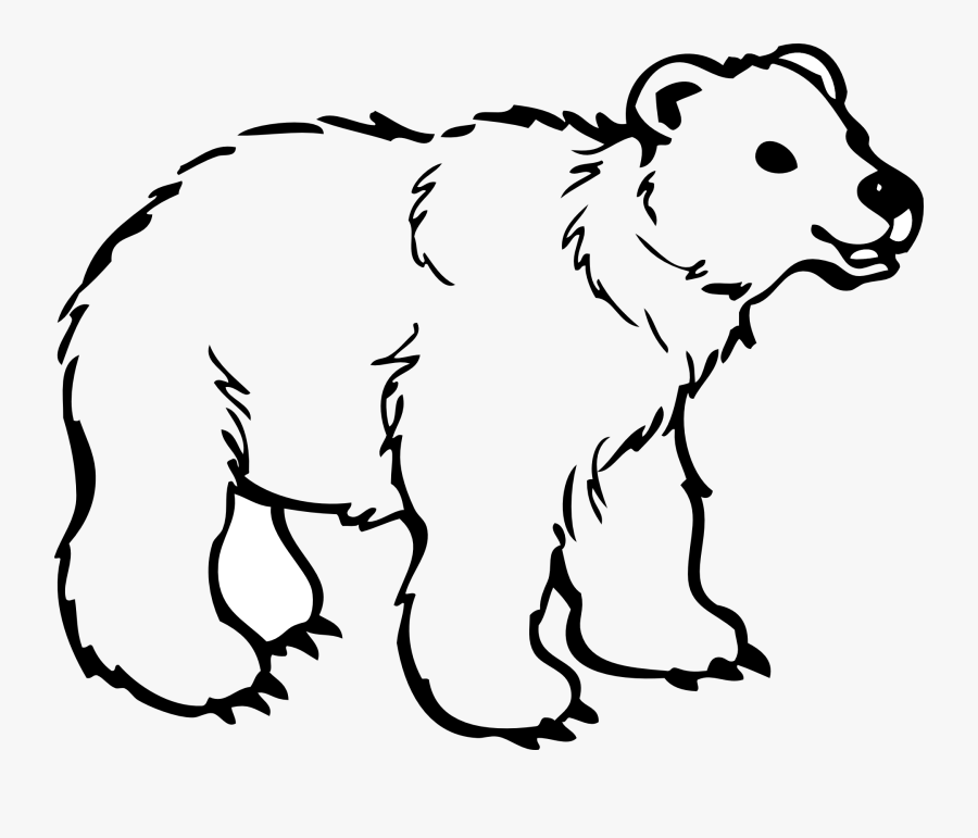 Animal Clipart Bear - Outline Of Wild Animals, Transparent Clipart