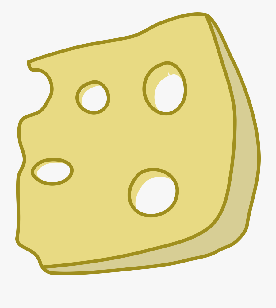 Transparent Pizza Slice Clipart Png - Slice Of Swiss Cheese Clipart, Transparent Clipart