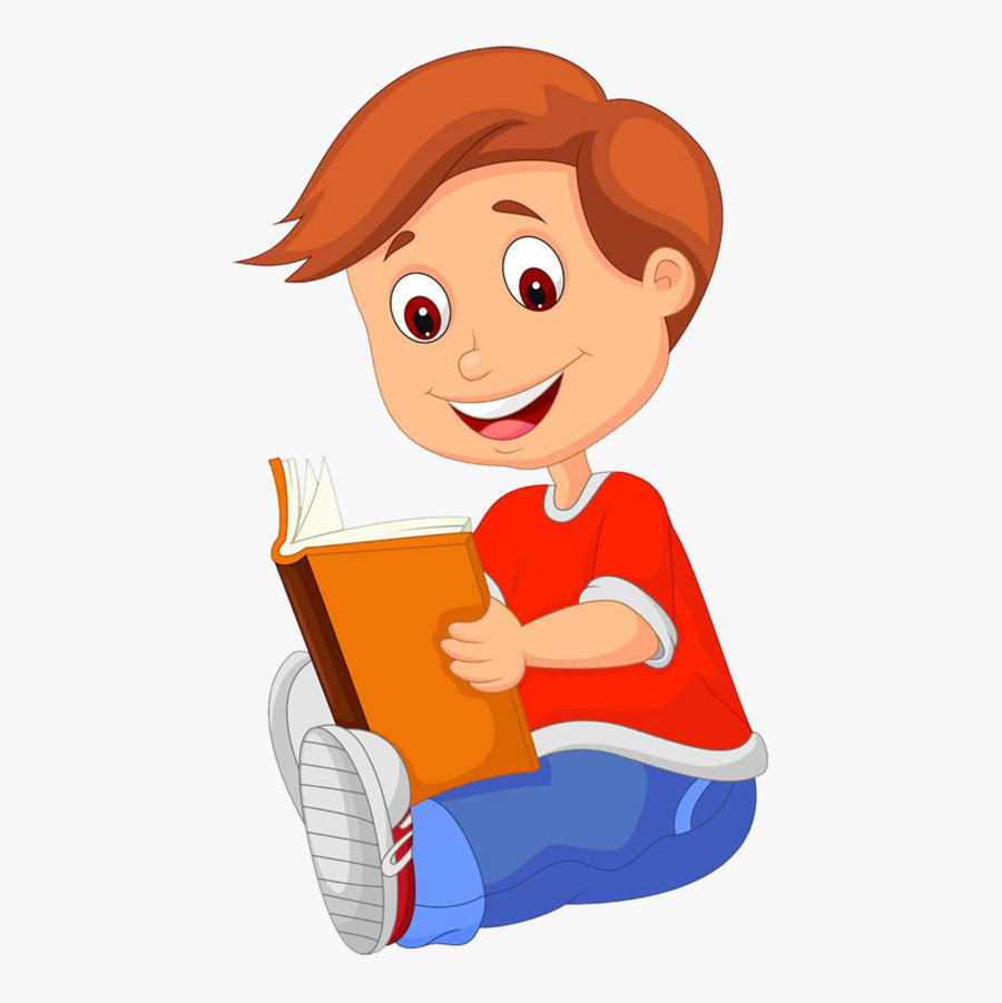 Reading Villain Clipart Vector Read Book Image And - Boy Reading Book Clipart Png, Transparent Clipart