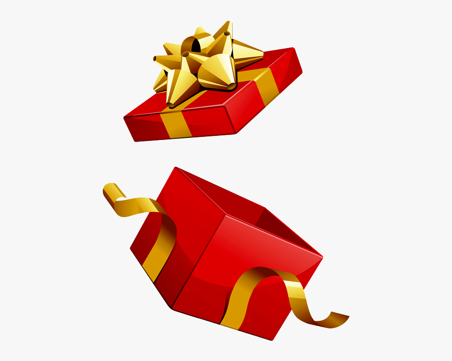 Present Clipart Opened - Open Gift Box Png, Transparent Clipart