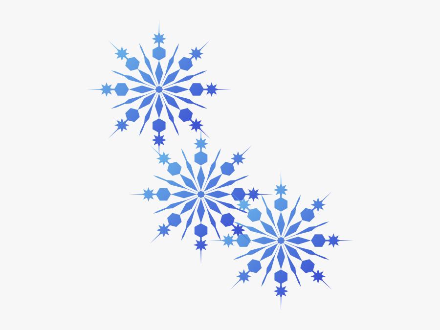 Blue Snowflake Png - Transparent Background Snowflake Clip Art, Transparent Clipart