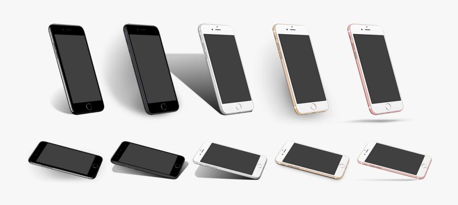 Transparent Iphone Clipart - Iphone 8 Angle Mockup, Transparent Clipart